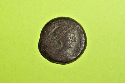 Antiochos VII 138BC ancient Greek Coin headdress of Egyptian Isis Eros Cupid VG 2