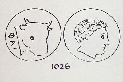 Ancient GREEK COIN bull MYTILENE LESBOS 149 BC-40 BC apollo antique lgbt lesbian 3