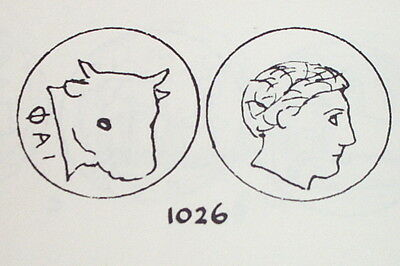 Ancient GREEK COIN bull head MYTILENE LESBOS 149 BC-40 BC apollo MY antique lgbt 3