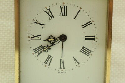 Antique 8 day Carriage Clock Jaccard with Porcelain Dial Working 4