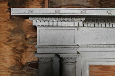 Large Adams Style Double Column Fireplace Mantel Mantle from NY Mansion Palace 2
