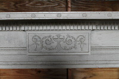 Large Adams Style Double Column Fireplace Mantel Mantle from NY Mansion Palace 3