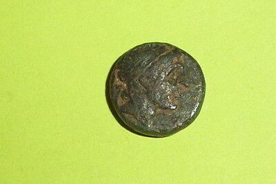 GREEK COIN of ANTIOCHUS I SOTER 281 BC-261 BC Apollo arrow bow omphalos Seleucid 2