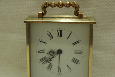 Antique 8 day Carriage Clock Jaccard with Porcelain Dial Working 2