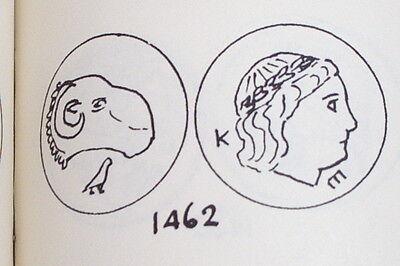 Ancient GREEK SILVER COIN ram HALICARNASSUS CARIA 395 BC mythology Apollo money 3 • CAD $403.19
