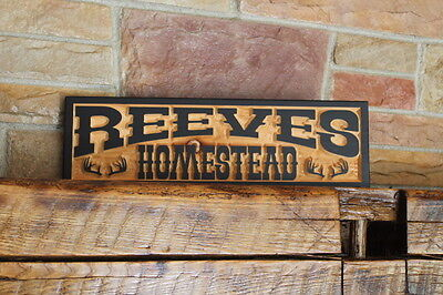 Western Home Decor Rustic Old West Style Signs Personalized Custom Carved Wood 9