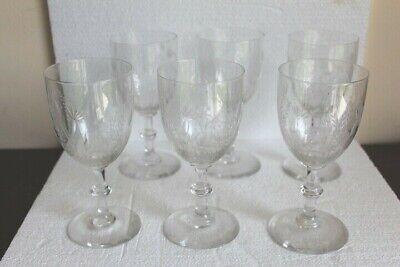 Juego de Seis Vasos de Vino de Cristal - Baccarat, Saint Louis ? 2