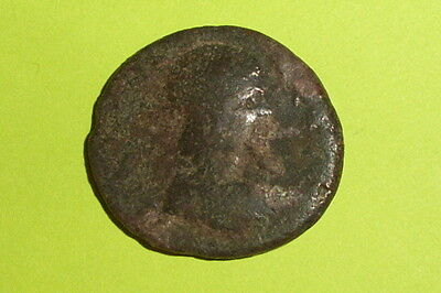 RARE Ancient ROMAN COIN roma city goddess JULIA DOMNA tyche EDESSA MACEDONIA old 3