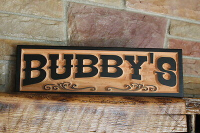 Western Home Decor Rustic Old West Style Signs Personalized Custom Carved Wood 11