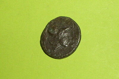 Authentic Ancient GREEK COIN grapes Athena LOCRIS OPUNTII war goddess mythology 2
