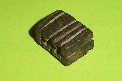 SCARCE Ancient ROMAN AMULET KEY inscription TYXH tyche lock tool antique ATIQOT 5