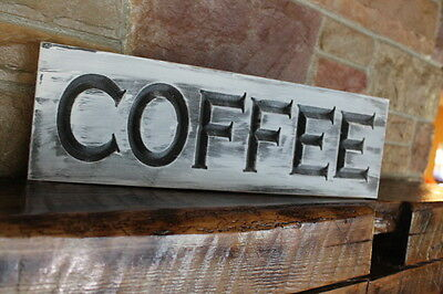 2 Of 4 Fixer Upper Wall Decor Farmhouse Kitchen Sign COFFEE Rustic Wood  Signs Carved