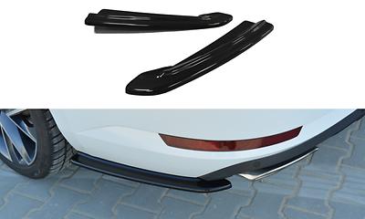 CUP Diffusor Seiten Ansätze für Hyundai Tucson MK3 FL Rear Flaps Heckstoßstange