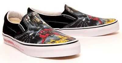 ... Vans classic iron maiden number of the beast slip on limited edition 2 d569411fc