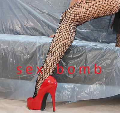 SEXY scarpe decolte ROSSE plateau invisibile tacco 14,5 dal 36 al 42 GLAMOUR ! 7