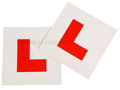 Genuin 2 x L Plate Fully Magnetic Exterior Car Learner Secure & Safe Legal Size 2