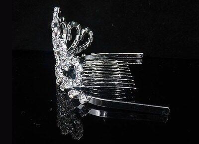 Wedding Bridal Crystal Rhinestone Headband Crown Comb Tiara Prom Pageant Kid S8B