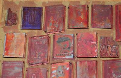 Konvolut Klischees Druckplatten Druckerei Drucken letterpress printer's plates 2