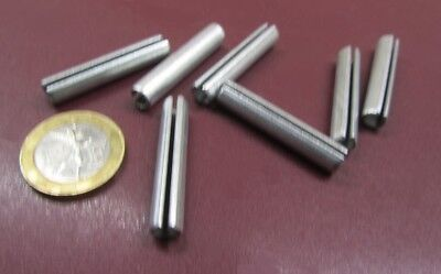 """Zinc Plate Steel Slotted Roll Spring Pin, 1/4"""" Dia x 1 3/8"""" Length, 100 pcs 4"""