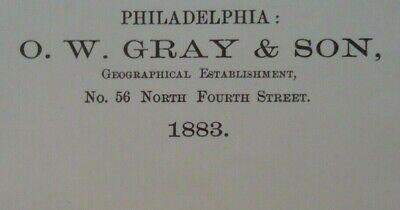 Vintage 1883 UNITED STATES HISTORICAL Maps Old Antique Original OW GRAY Atlas 3