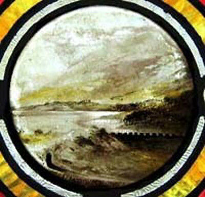 Antique Stained Glass Window RARE PAINTED MASTERPIECE 3