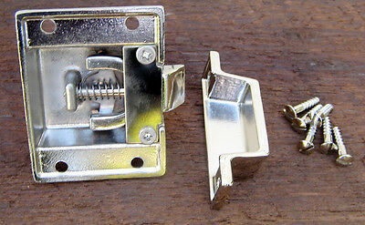 Reproduction Large Solid Brass Cabinet Latch (Polished Nickel) 7