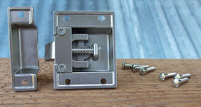 Reproduction Large Solid Brass Cabinet Latch ( Brushed Nickel) 6