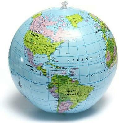 40cm Inflatable Globe Map Ball World Earth Geography Blow Up Atlas Education Toy 2