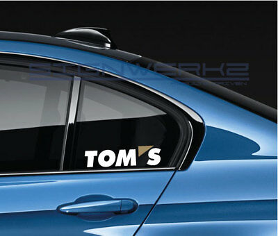 TOMS STICKER DECAL tuning racing toyota rcf isf lexus frs scion 2 colors -  pair