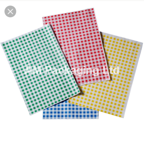 """* Duplex Red Gingham Paper Sheets Size 10 x 15"""" Food Wrapping 10kg HDS00 3"""