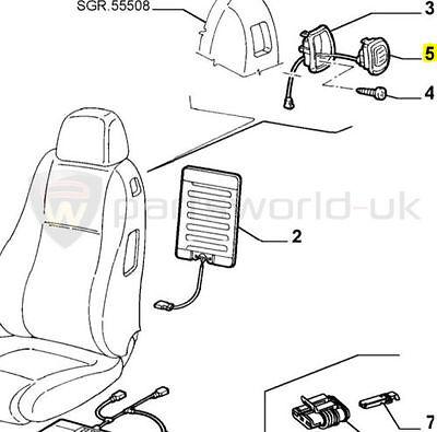 Genuine Alfa Romeo 147 3Dr /& Gt Seat Handle /& Cable 185023960