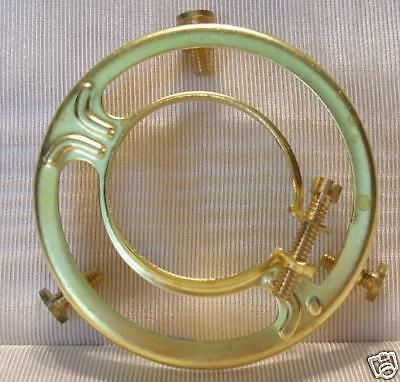 """2 &1/4"""" FITTER SHADE HOLDER bridge lamp old antique  BRASS CLAMP ON CO 2"""