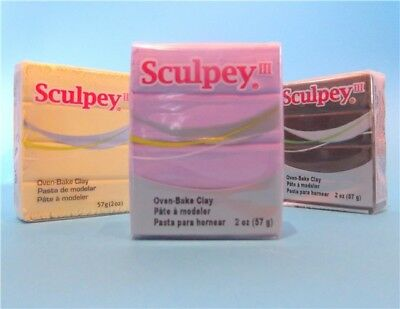 THREE BLOCKS Sculpey iii 3 lll Polymer Oven Bake Clay 111