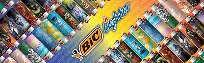 LOT OF 6 X Bic Cigarette Lighters Disposable Full Size Assorted design ( MIX ) 3