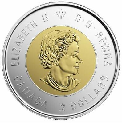 2019 CANADA 🍁 D-Day $2 Dollar Coin - Colored Version; BU from roll;🍁 Limited 2
