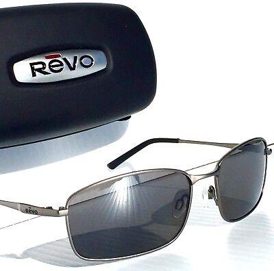 be6159c966 REVO SCOUT Gunmetal w POLARIZED Grey Lens Sunglass RE 5004 00 GY 7 NEW!