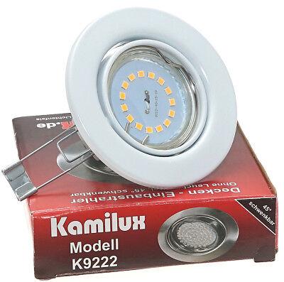 5-15 SET K9222 Tom 230V 3W COB LED GU10 Einbauleuchte Deckenstrahler Deckenspot