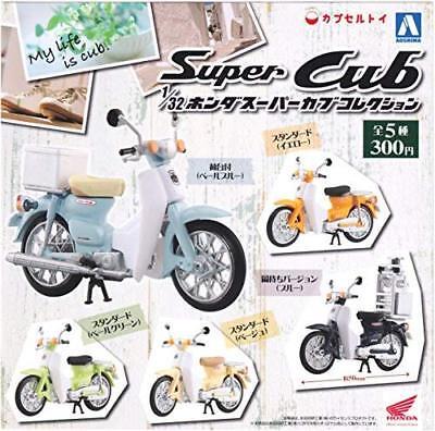 Aoshima Japan Honda Super Cub Motorcycle Scale 1//32 COMPLETE SET 6 PCS