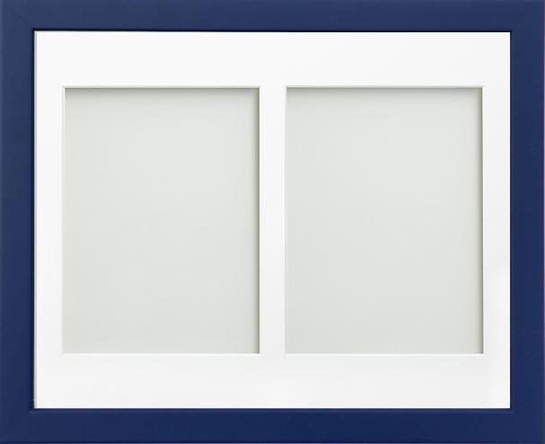 Frame Company Jellybean Dark Blue Wood Multi Aperture Collage Photo frame &Mount 3