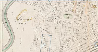 COPY ATLAS PLAT MAP BROMLEY BENEDICT CEMETERY G.W 1896 ROXBURY BOSTON MA MT
