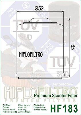Piaggio Vespa LX / LXV / 125 / 150 (2005 to 2015) Hiflo Premium Oil Filter HF183