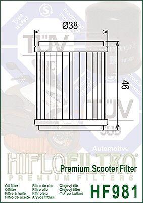 MBK 125 Citycruiser / Cityliner / Skycruiser HifloFiltro Oil Filter (HF981)