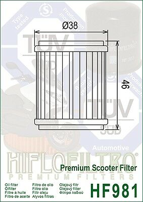 Yamaha VP125 X-City / YP125 R X-Max HifloFiltro Oil Filter (HF981)