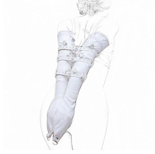 Bondage Armbinde Soft Kunstleder Arm Binder Handschuhe Fesseln Slave Fetisch 6