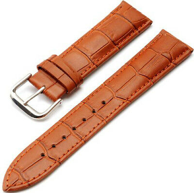 Mens Genuine Leather Watch Strap Band  Black Brown 14mm 16mm 18mm 20mm 22mm 24mm 10