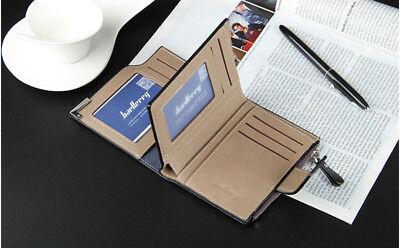 Men Leather Wallet ID Credit Card Holder Clutch Bifold Pocket Zipper Coin Purse 6
