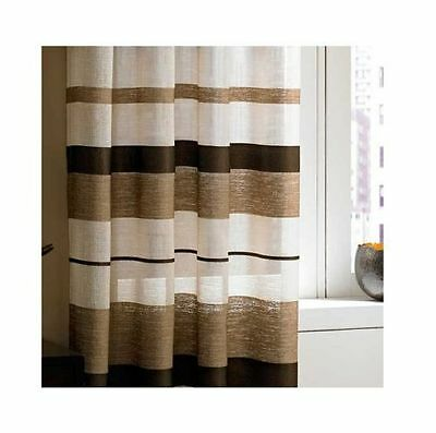 New J Queen 37 West PRINCETON Grommet-Top Sheer Drapery Panel 50x84 Gold//Brown