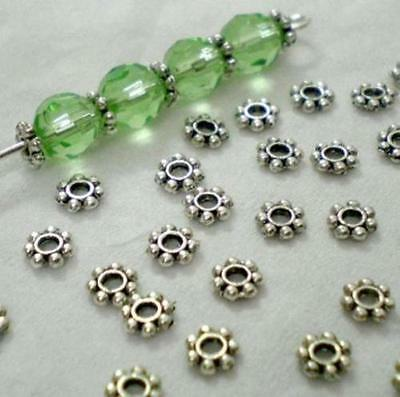 1000pcs/Lots HOT Tibetan Daisy Spacer Metal Beads 4mm Jewelry Making Wholesale 3