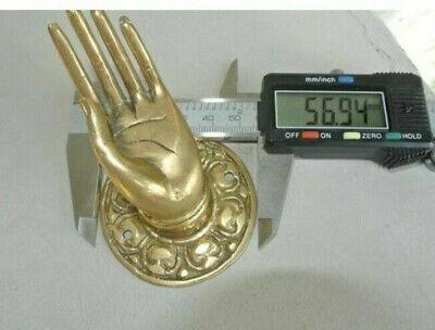 "2 Polished handle hand 100% brass door old style knob hook 2.1/4 ""buddha 7"