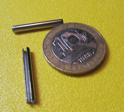 18-8 Stainless Steel Slotted Metric Spring Pin M2.5 Dia x 20 mm Length, 200 pcs 11